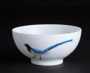 雍荷堂珐琅彩瓷器艺术品蓝雀
