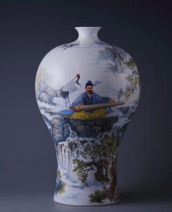 雍荷堂馆藏珐琅彩瓷器高山流水