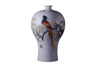 雍荷堂珐琅彩瓷器艺术品绶带鸟缩略图